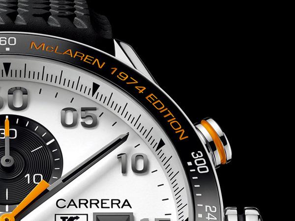 TAG Heuer Carrera McLaren 1974     TAG Heuer 推出迈凯轮40周年特别版腕表
