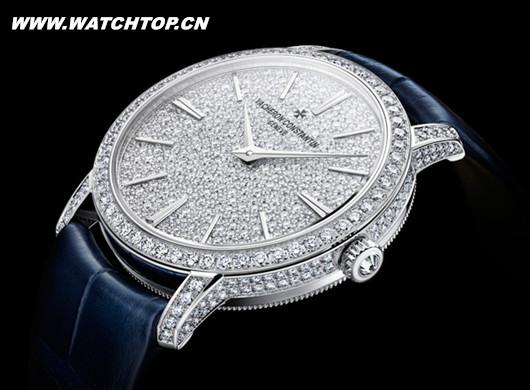 江诗丹顿推出全新直径33毫米全镶钻女士款腕表