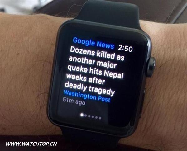 连谷歌都来给苹果手表捧场了