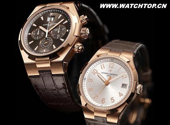 江诗丹顿两枚全新Overseas优雅粉金腕表